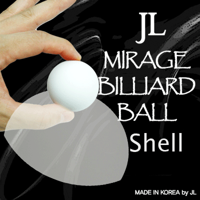 Two Inch Mirage Billiard Balls - JL (WHITE, shell only)