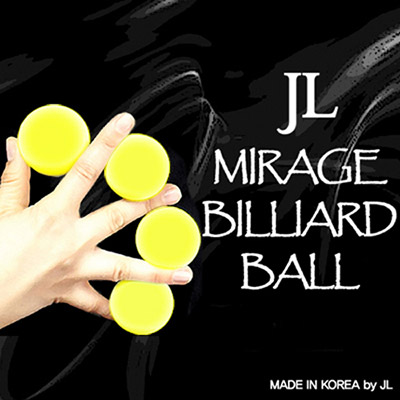 Mirage Billiard Balls by JL (Yellow, 3 Balls and Shell)