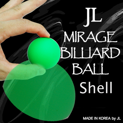 Mirage Billiard Balls by JL (GREEN, shell only) - Trick