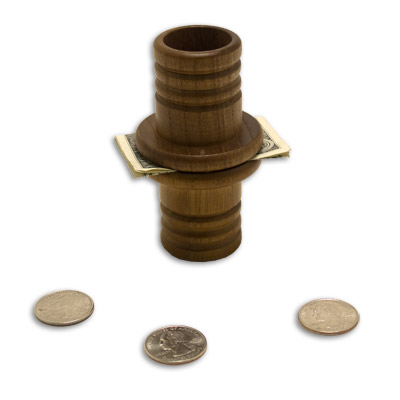 Coin Tube (Wood) by Mikame - Trick