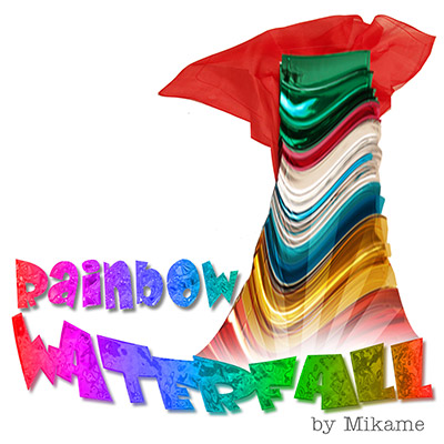 Rainbow Waterfall (with silk) Large by Mikame - Trick