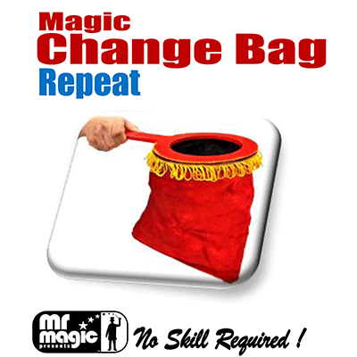 Magic Change Bag (Repeat w/ zipper)- by Mr. Magic