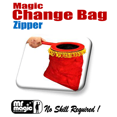Magic Change Bag (Zipper)- by Mr. Magic