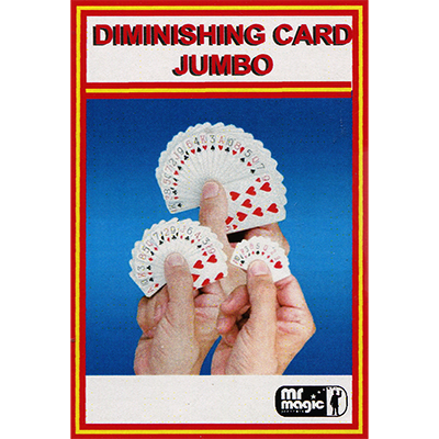 Diminishing Cards (Jumbo) - Mr Magic