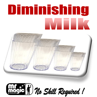 Diminishing Milk Glasses (multim in Parvo) by Mr. Magic