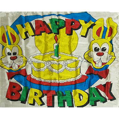 Production Silk 16 inch x 16 inch (Happy Birthday)