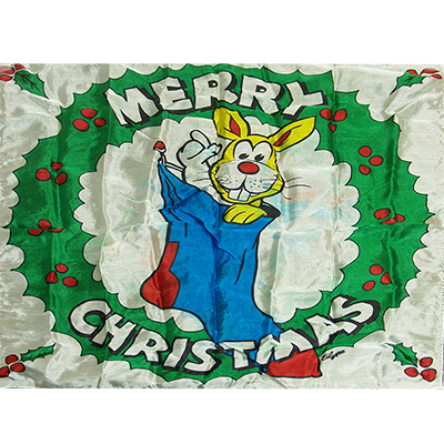 "Production Silk 16""x16"" (Merry Christmas) by Mr. Magic - Trick"