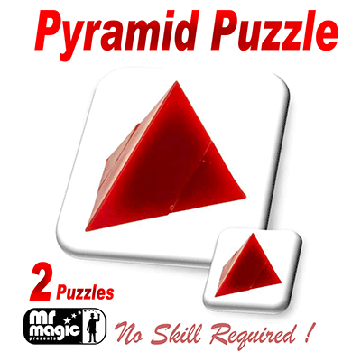 Pyramid Puzzle (2 Puzzles per box) by Mr. Magic - Trick