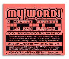 My Word trick Dan Harlan