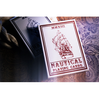 Nautical Playing Cards (Rojo) - House of Playing Cards