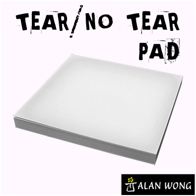No Tear Pad (Small, 3.5 X 3.5, Tear/No Tear Alternating) by Alan Wong - Trick