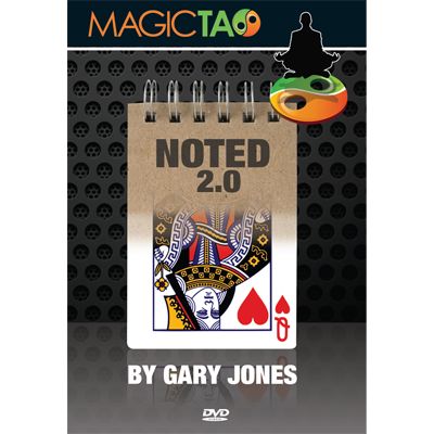 Noted 2.0 Red (DVD and Gimmick) by Gary Jones and Magic Tao - DVD