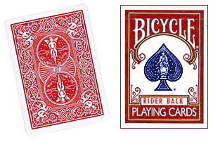 Cartas para Forzar - 1 Eleccion - 4 de Espadas - Cartas Bicycle - Rojo