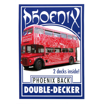 Phoenix Double Decker Two Way (Blue) by Card-Shark - Trick