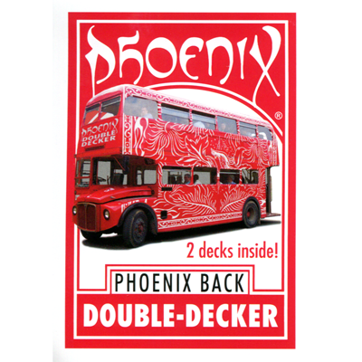 Phoenix Double Decker Two Way (Red) by Card-Shark - Trick