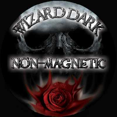 Wizard DarK FLAT Band Non-Magnetic Ring (size 24mm)