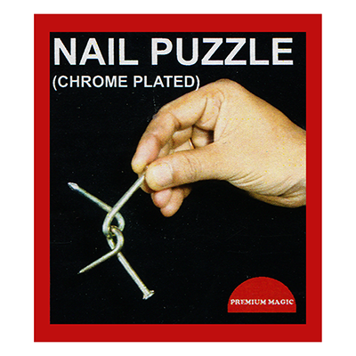 Nail Puzzle (Chrome Plated) - Premium Magic