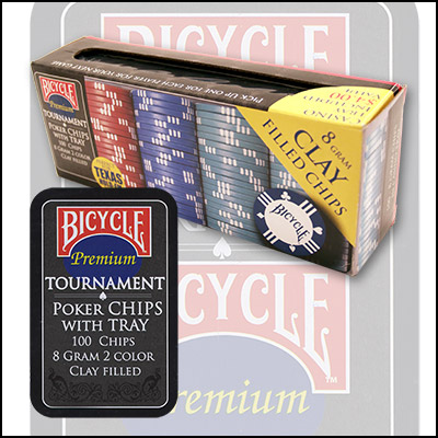 Cartas Bicycle - Clay Poker Chip Set: 100 Count
