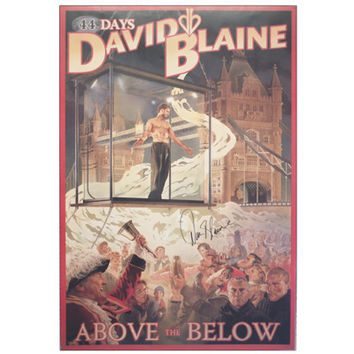Above The Below Autographed Poster (Limited Edition) - David Blaine