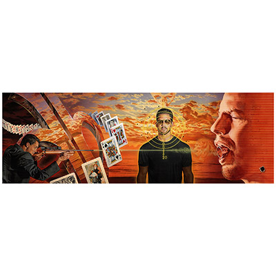 Bullet Catch Poster (AUTOGRAPHED Standard Edition, ORANGE) by David Blaine - Trick