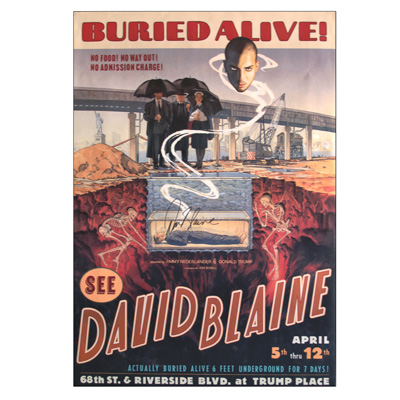 Buried Alive Autographed Poster (Limited Edition) by David Blaine - Trick