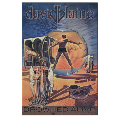 Drowned Alive Autographed Poster (Limited Edition) by David Blaine