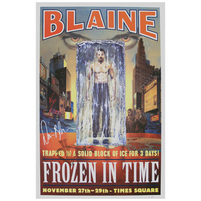 Frozen In Time Autographed Poster (Limited Edition) - David Blaine - Trick