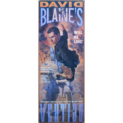 Vertigo Autographed Poster (Limited Edition) - David Blaine - Trick