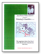 Printings Gambler by Jean-Pierre Vallarino
