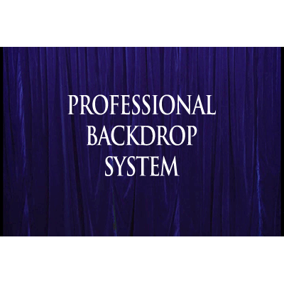 Professional Backdrop System (Blue with Deluxe Curtain) - Trick