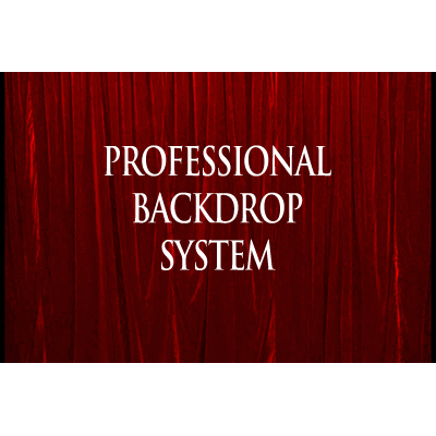 Professional Backdrop System (Red with Deluxe Curtain) - Trick