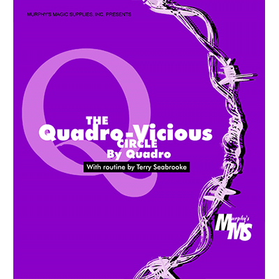 Quadro Vicious Circle Linking Rings by Murphys Magic Supplies - Trick