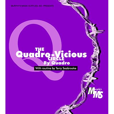 Quadro Vicious Circle Linking Rings by Murphys Magic Supplies