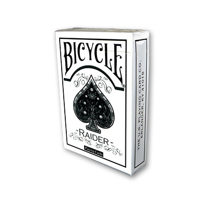 Raider Bicycle Deck White by US Playing Card - Trick