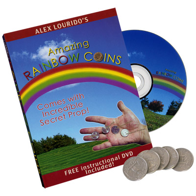 Rainbow Coins (With DVD) by Alex Lourido - Trick
