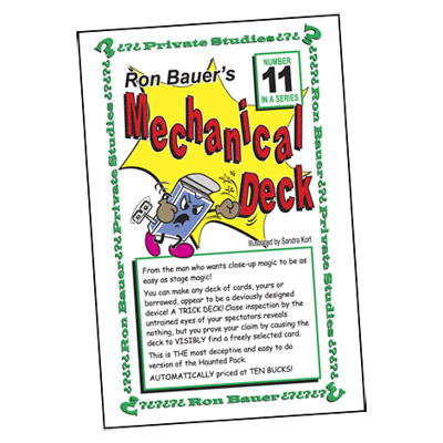 Ron Bauer Series: #11 - Ron Bauer's Mechanical Deck - Book