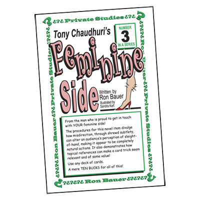 Ron Bauer Series: #3 - Tony Chaudhuri's Feminine Side - Book