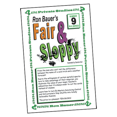 Ron Bauer Series: #9 - Fair And Sloppy - Book