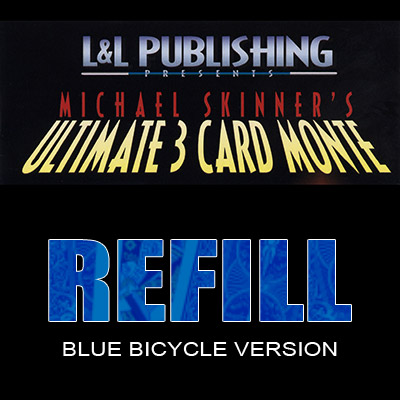 Refill Cards for 3 Card Monte (Blue) - Trick