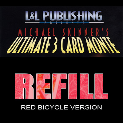 Refill Cards for 3 Card Monte (Red) - Trick