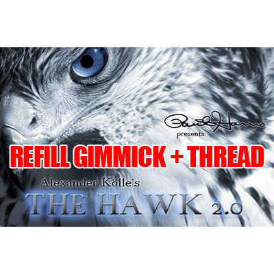 REFILL for Paul Harris Presents The Hawk 2.0 (2 Basic Hawk Gimmicks & Thread)- Trick