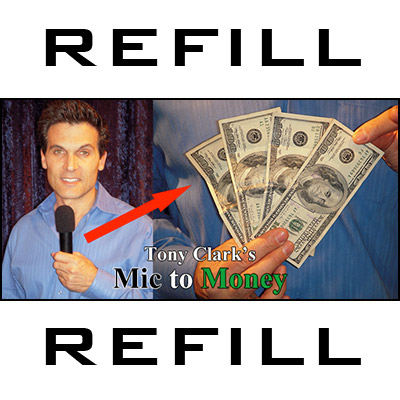 REFILL Mic to Money Miracle (Black Body, 20 refills) by Tony Clark- Trick