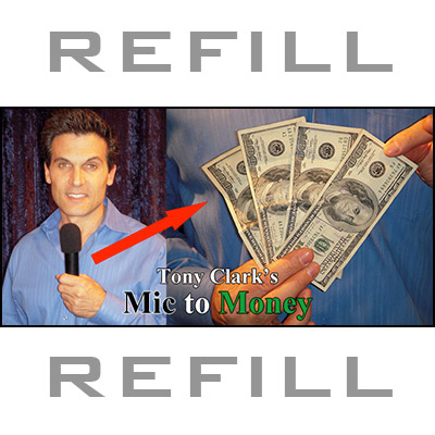 REFILL Mic to Money Miracle (Silver Body, 20 refills) by Tony Clark- Trick