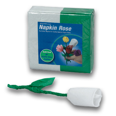 Napkin Rose - Refill (White) by Michael Mode - Trick