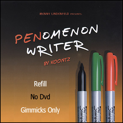 REFILL PENomenon Writer (Gimmicks Only, NO DVD Black)  by Menny Lindenfeld  and Koontz  - Trick