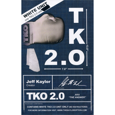 TKO 2.0 Gimmick only (white) by Jeff Kaylor - Trick