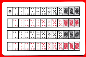 52 on 1 Cards (Royal back) 1 card= 1 unit.