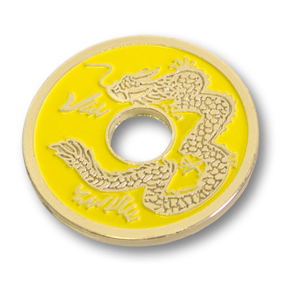 Chinese Coin (Yellow - Half Dollar Size)