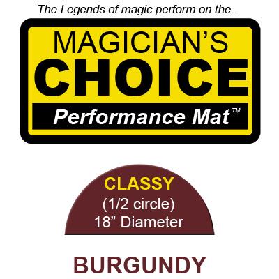 Tapete para Trucos de Magia Classy (BURGUNDY - 45.75 cm) - Ronjo