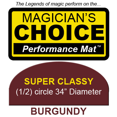 Super Classy Close-Up Mat (BURGUNDY - 34 inch) by Ronjo - Trick